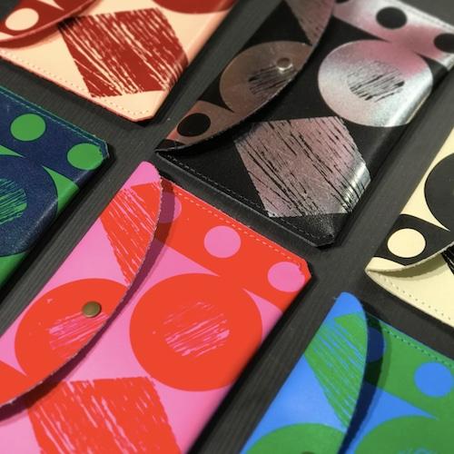 "Ark Colour Design ""THROW SOME SHAPES - LARGE PURSE"" 本革 財布 カードケース"