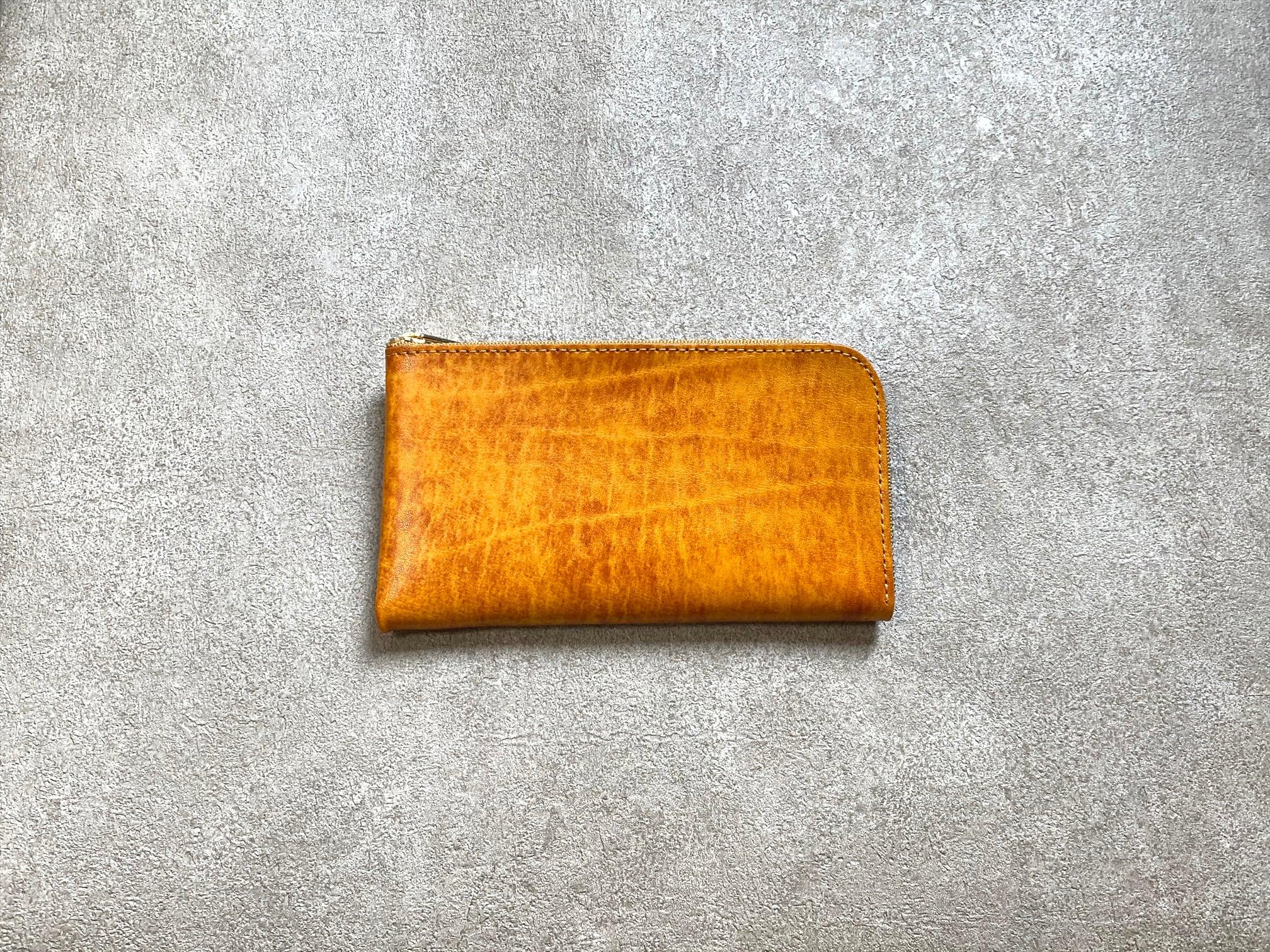 SHOZOウォレット(アニリン仕上げ):オレンジ ※「アジア・パシフィック・レザー・フェア2019」革小物部門グランプリ受賞商品