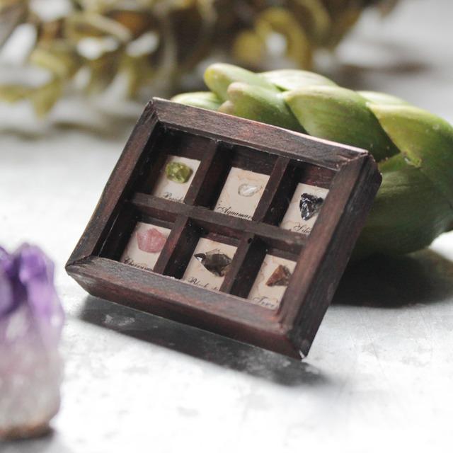 鉱物のミニチュアコレクション箱_9つの石【鉱石の呟き】