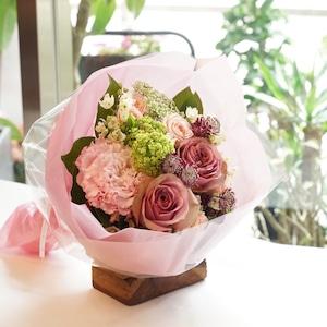 「ラウンド花束」ピンク