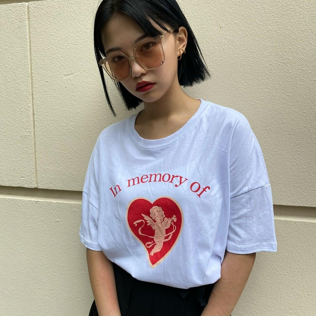 【Belle】cupid big T / white