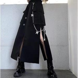 【ボトムス】カジュアル人気無地合わせやすい不規則スカート42845784