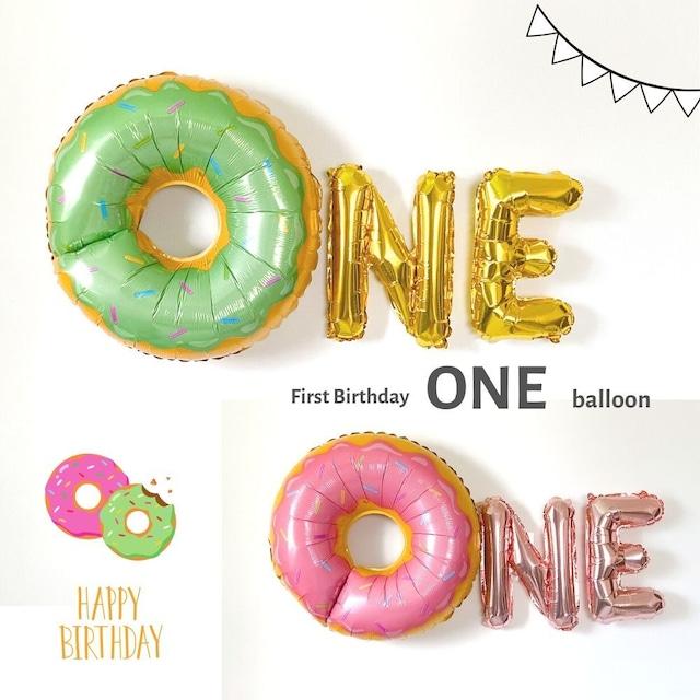 【送料無料】ドーナツ ONE バルーン ファーストバースデー 男の子 女の子 1歳 誕生日 飾り付け