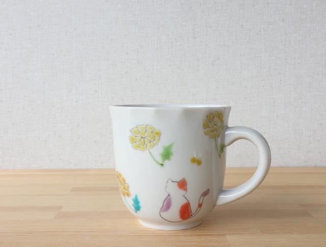 三毛猫みーちゃん(春) マグカップ(工房直売価格)