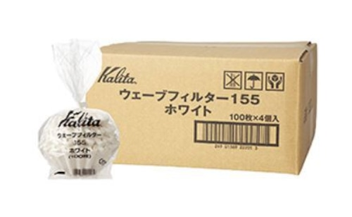 Kalita ウェーブフィルター155 ホワイト(100枚入り)