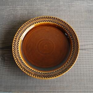 感器工房 波佐見焼 翔芳窯 ローズマリー リムプレート 皿 約24cm ブラウン 332761