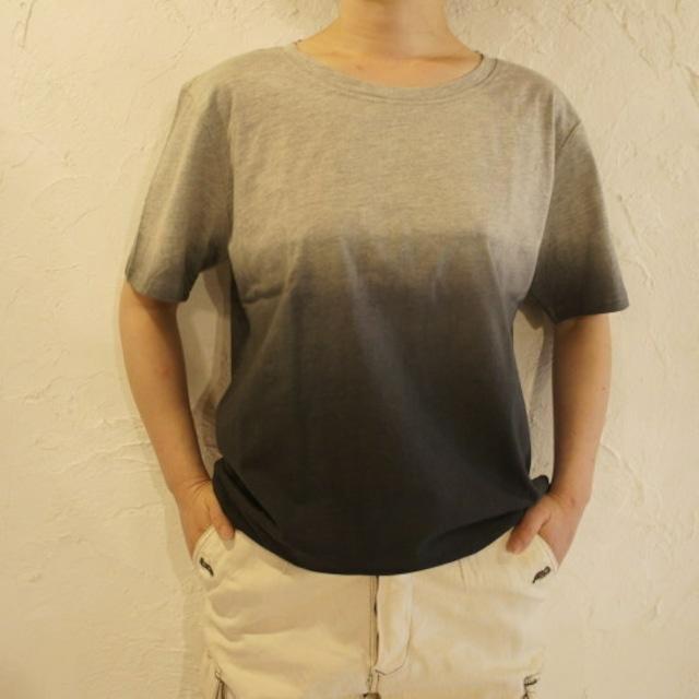 TOPANGA fashion グラデーションTシャツ グレー
