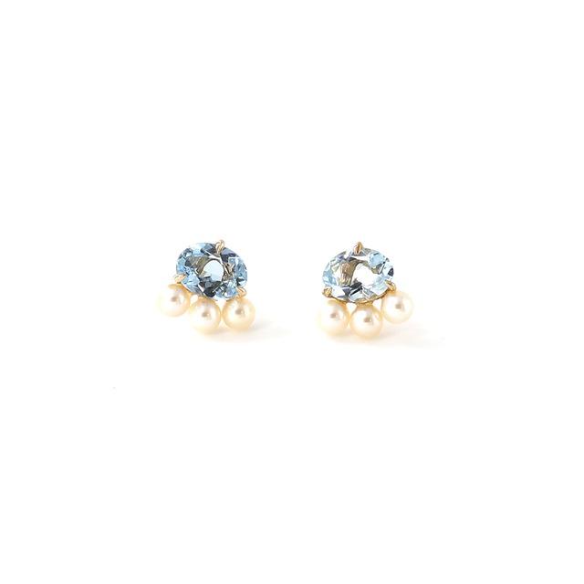 Serum Aqua 3 Pearls Earrings