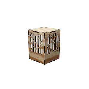 ミニ行灯 竹 - 置き型照明 Sサイズ マツ