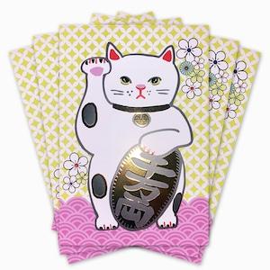 厚盛金箔 招き猫 Lucky Cat Card(5枚セット)