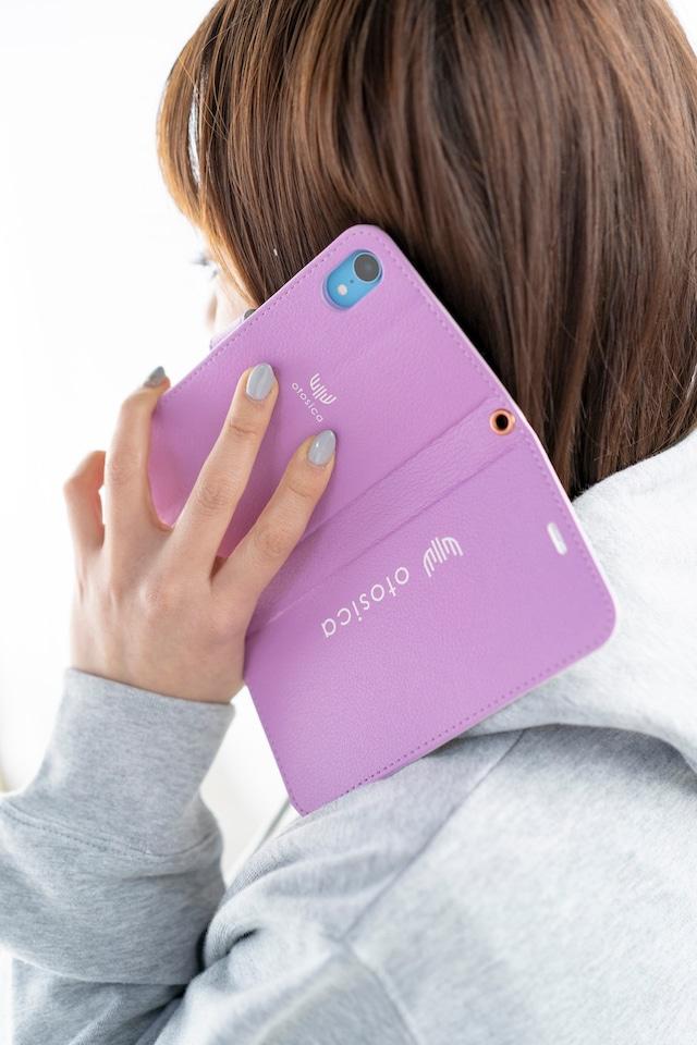 【otosica】iPhone XR 手帳ケース ピンクパープル