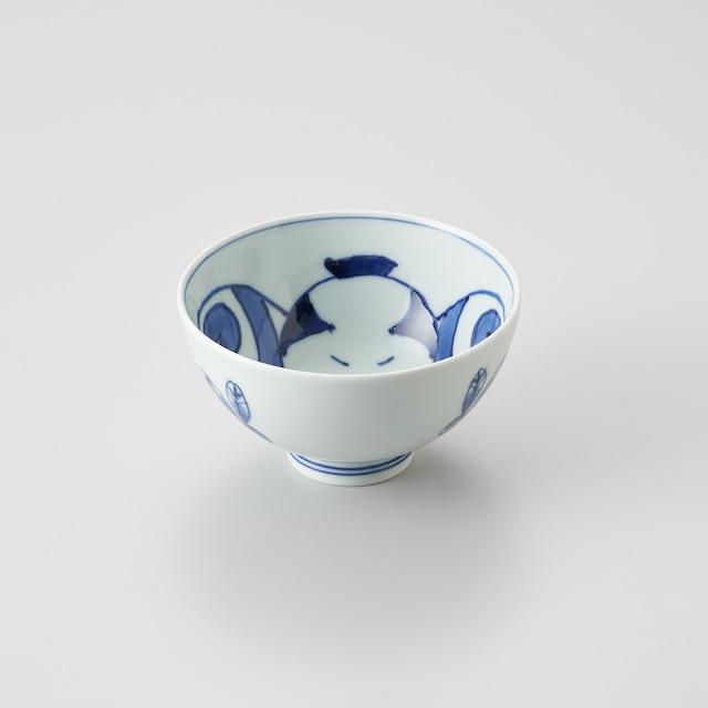 """【青花】""""Classic"""" 3.8寸丸飯碗(奴凧)"""