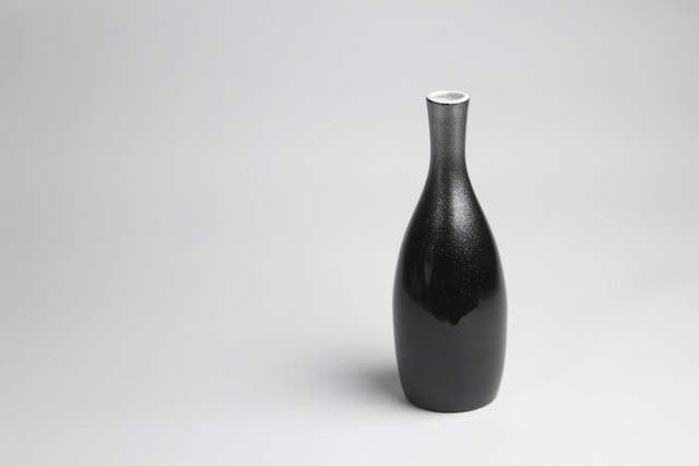 『SP3A05-02』『徳利』『陶胎漆器』『黒銀漆吹徳利』 *陶磁器と漆器の調和 美しい シック 記念品 黒銀