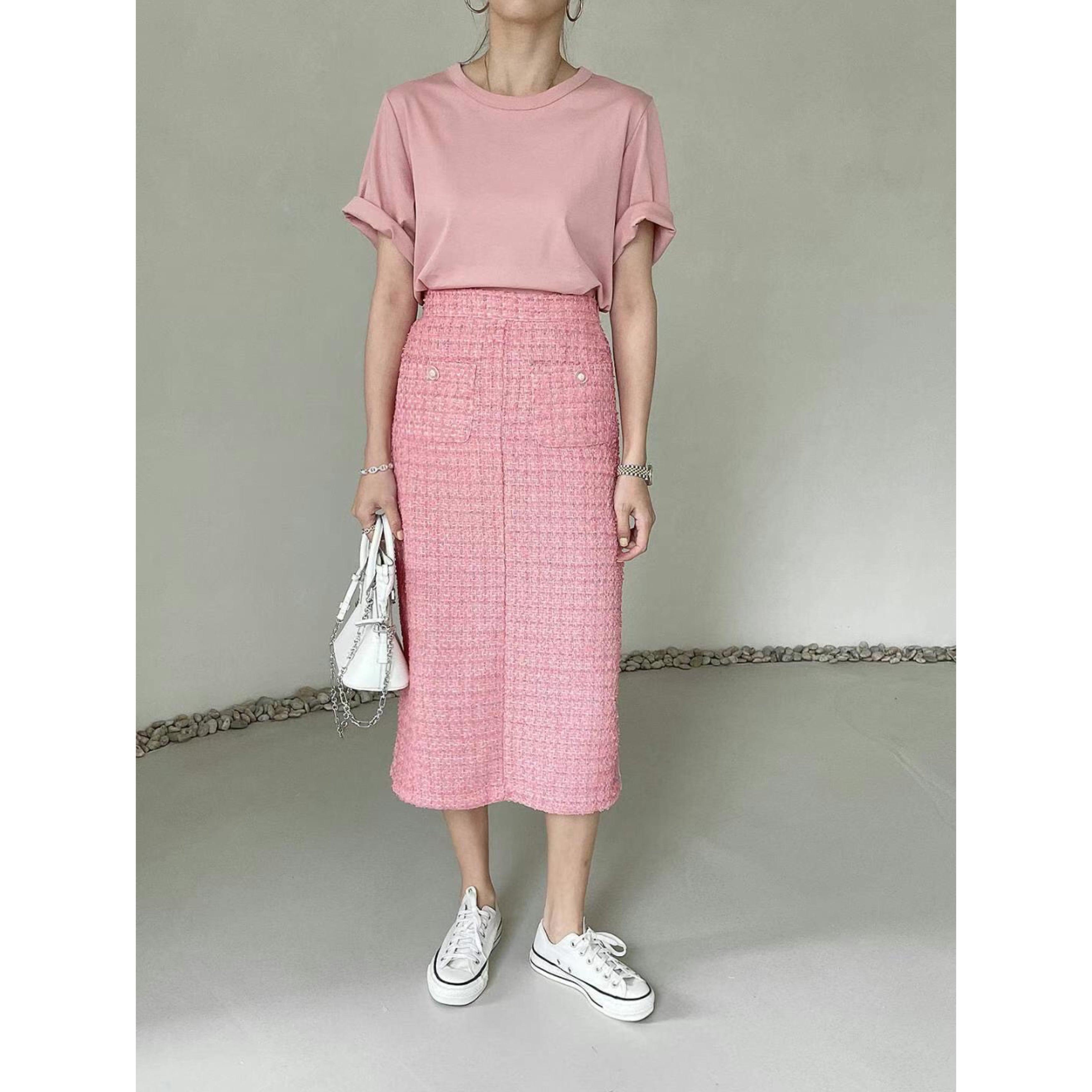 【即納】ツイードタイトスカート