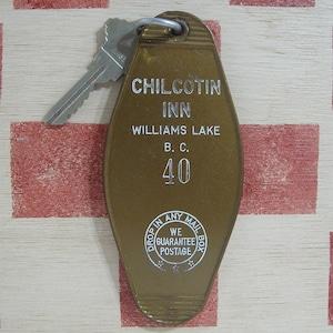 カナダ CHILCOTIN INN[チルコティン イン]ホテル ヴィンテージ ルームキーホルダー