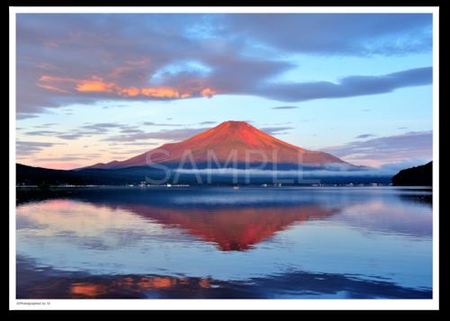 アート写真プリント A4サイズ 赤富士