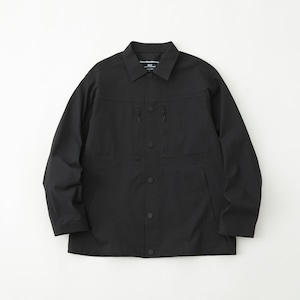 SOLOTEX STRETCHED TWILLED COACH JACKET - BLACK