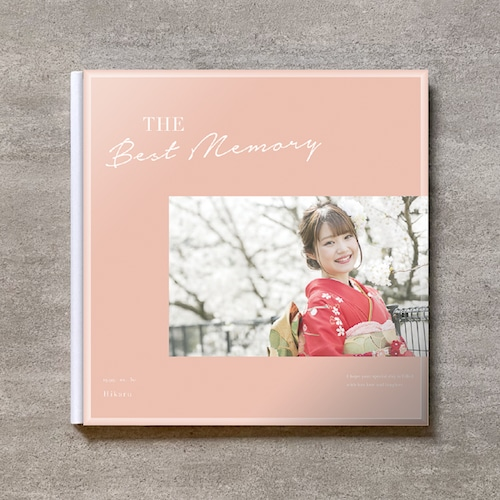 Simple pink-成人式_A4スクエア_6ページ/10カット_クラシックアルバム(アクリルカバー)