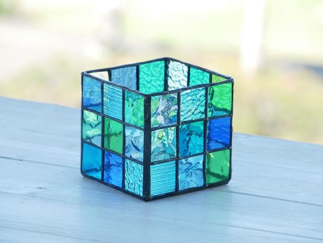 HK 青いトーンのかくかくBOX