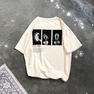 ユニークフォトプリントTシャツ BL8815