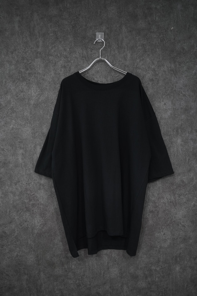 "YŌKE byKeisukeyoneda ""abstract ""shoulder less big tee #1 Black"