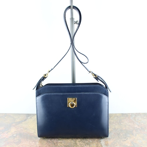 .OLD CELINE LOGO LEATHER SHOULDER BAG MADE IN ITALY/オールドセリーヌロゴレザーショルダーバッグ2000000054773
