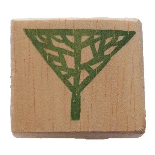 消しゴムはんこ/木(逆三角形)(1-27)