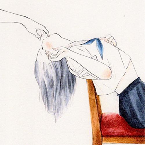 岡藤真依 / ポストカード「ふくんだ指の甘さ」