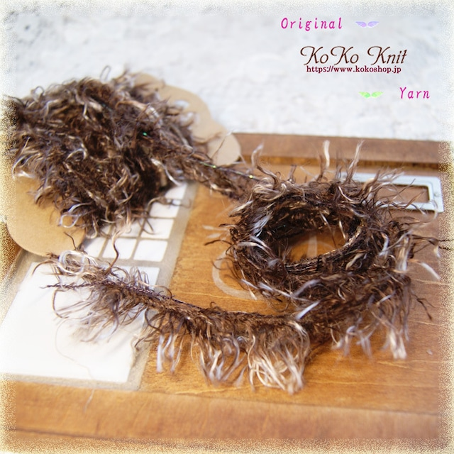 §koko§ 引き揃え糸カード ~大樹の長~オリジナル糸 ファンシー ラッピング レース タッセル
