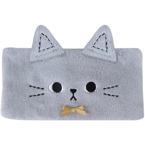 猫ヘアバンド(ふわふわマイクロファイバー)ねこのミミッツグレー