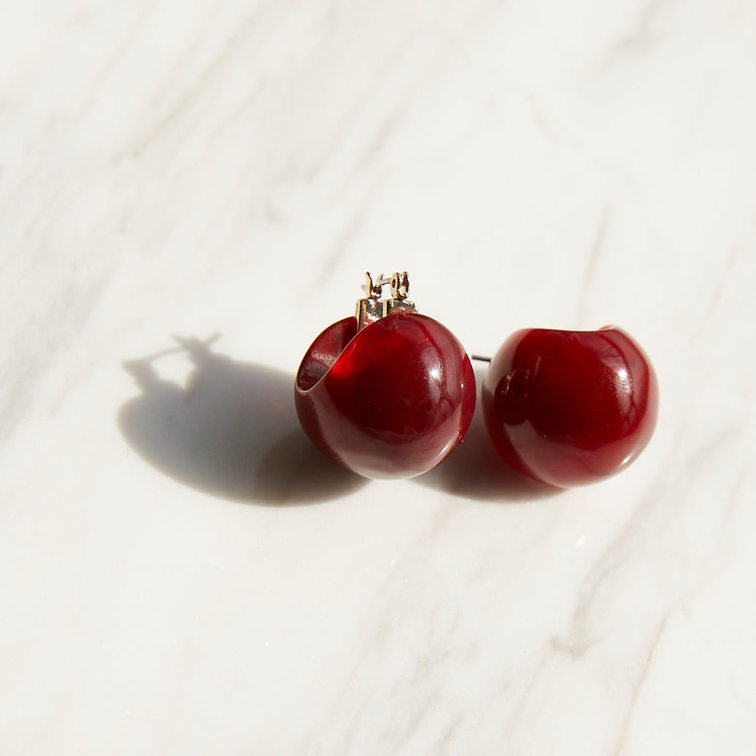 nim-16 Pierced earring / Bordeaux