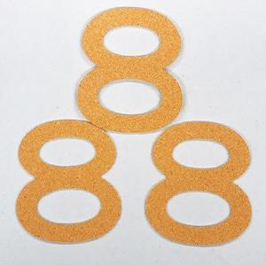 切り文字 A&Cペーパー パルプロック 粘着付 数字「8」