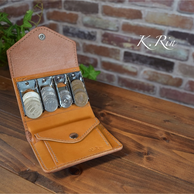 【受注制作】コインキャッチャーのお財布 (KA003b2-10)