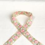インド刺繍リボン 星花 ピンク ins-0063