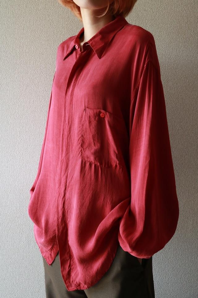 Vintage fog red shirt