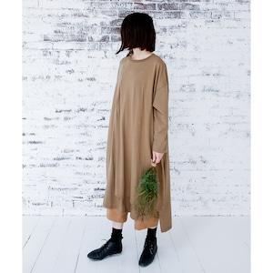 michirico long overlap  Woman ブラウンカーキ (M)[MR20AW-04]