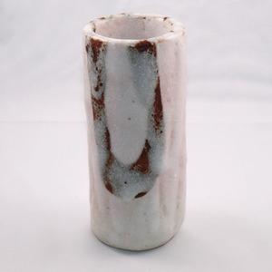 桃志野 丸花入れ  Pink Shino Round Flower Vase