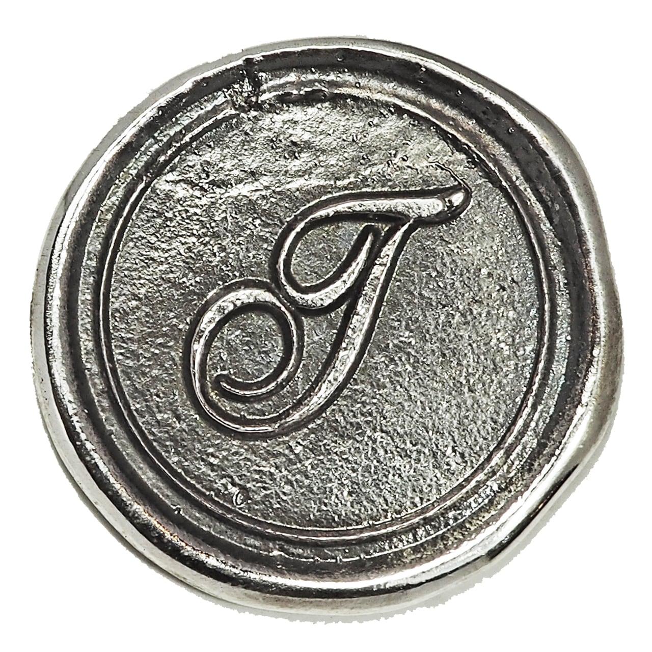 シーリングイニシャル LL 〈T〉 シルバー / コンチョボタン