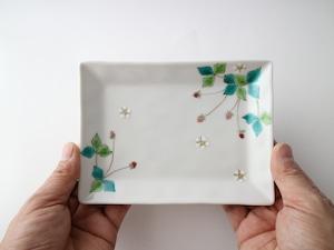 ワイルドストロベリー皿(丸,角)(工房直売価格)
