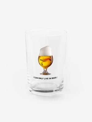 【ビールの中でしか・・・ウミガメ】グラス