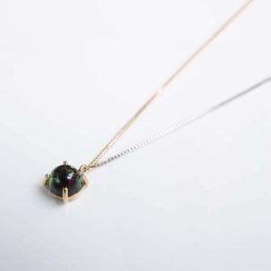 Green Tourmaline Long Necklace(N169-GT)