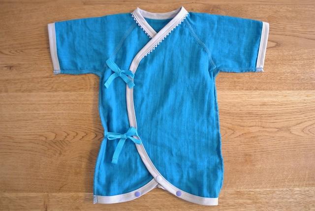低出生体重児(未熟児)コンビ肌着 40~50サイズ ブルー