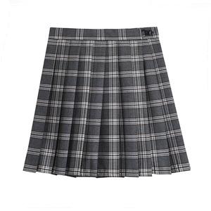 プリーツスカート 大きいサイズ 制服スカート 女子スクールスカート チェック柄 グレー 女子高生 JKスカート ミニスカート 2969