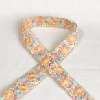 インド刺繍リボン 星花 オレンジ ins-0064