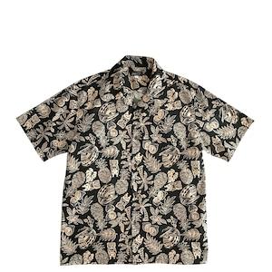Mountain 半袖オープンアロハシャツ / TIKI /  Black