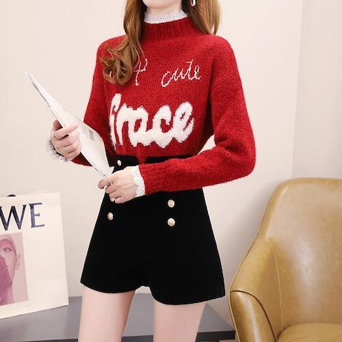 2色/ロゴセーター ・18583