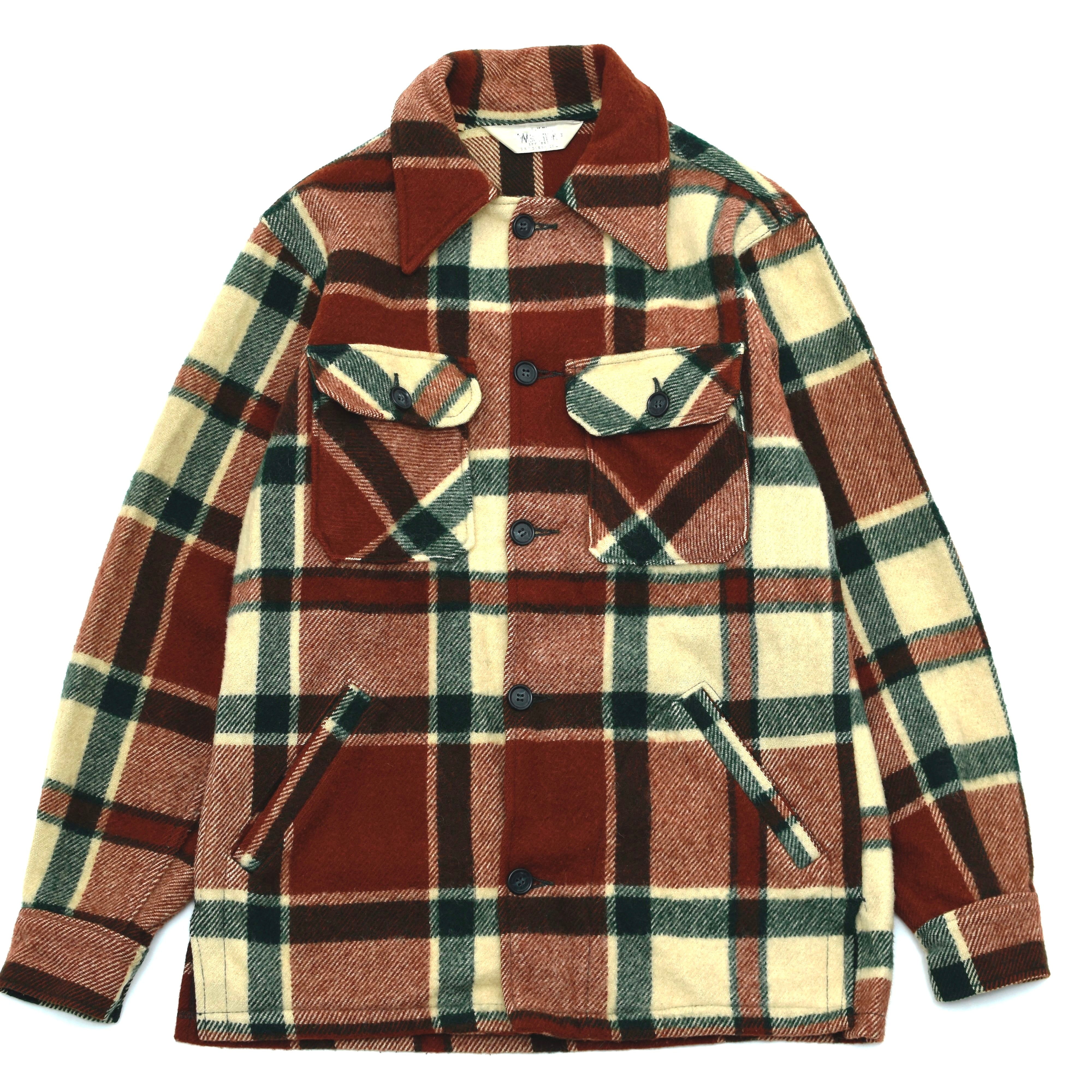 70's vintage WOOLRICH check shirt jacket