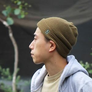 S LOGO WATCH CAP #BROWN