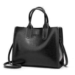 レディース PUレザーショルダーバッグ 毎日のショッピングに最適 トートバッグ ハンドバッグ White black