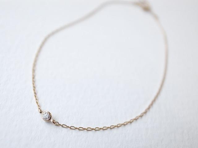 K18YG Diamond/1.8round grain bracelet